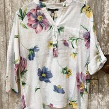 Gauzy Floral Tunic