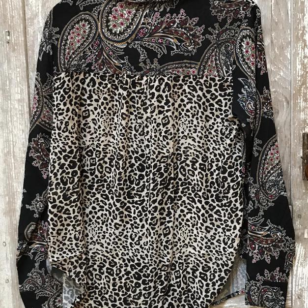 Mixed Pattern Shirt- Rear