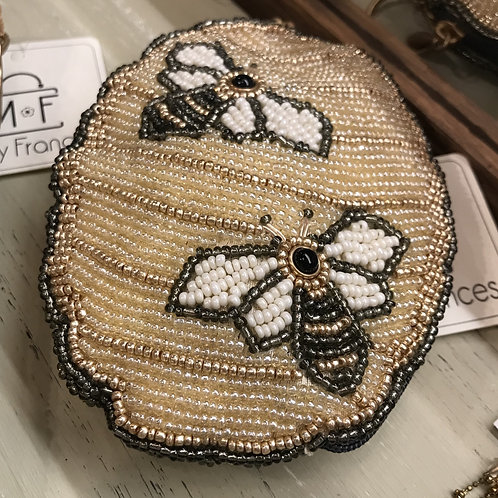 Mary Frances Beehive Purse with Keyring