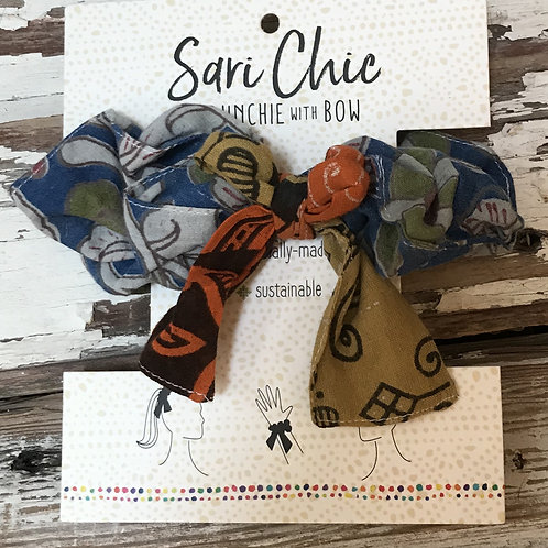 Recycled Sari Scrunchies