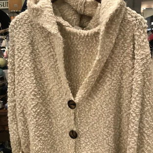 Soft Pebbled Cardigan in Ivory