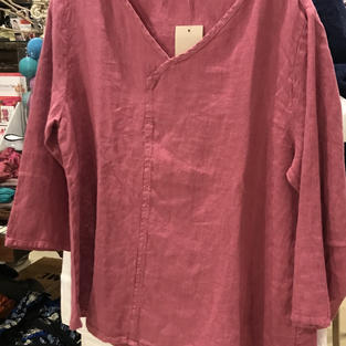 Raspberry Linen Shirt
