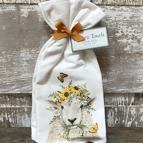 Spring Sheep Towels
