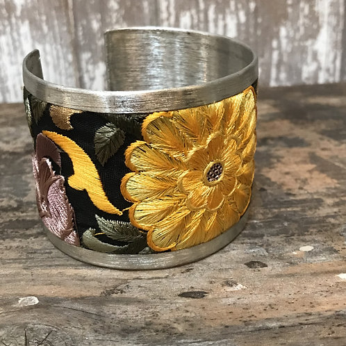 Embroidered Metal Cuff