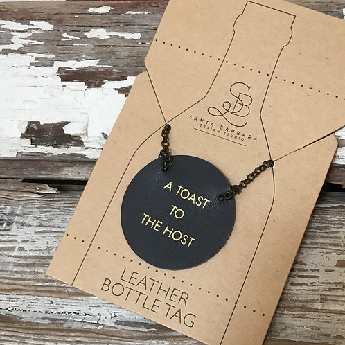 Leather Wine Bottle Tags