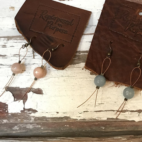 Stone and Wire Earrings