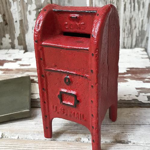 Cast Iron Mailbox Bank