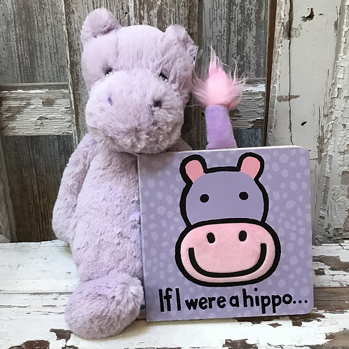 Jelly Cat Hippo and Book