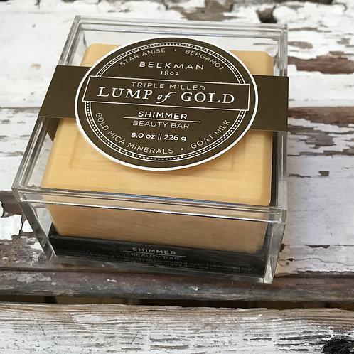 Beekman's Lump of Gold Shimmer Beauty Bar