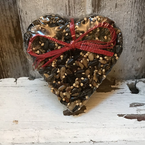 Birdseed Heart Ornament