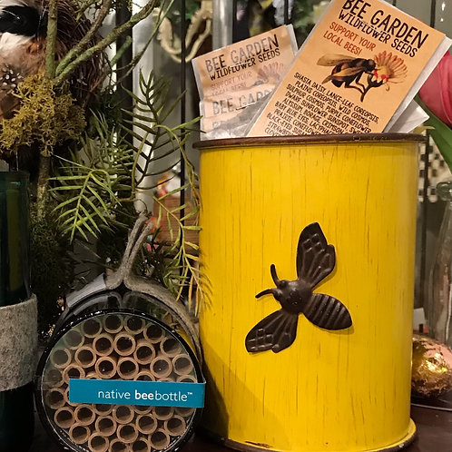 Bee Canister with Magnetic Bee