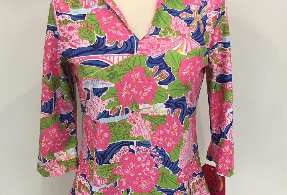 Teegan Tunic - Pink WV Custom Print
