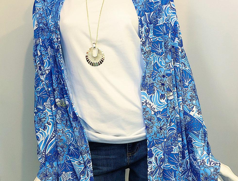 Multi Wear Jersey Wrap - Blue WV Custom Print