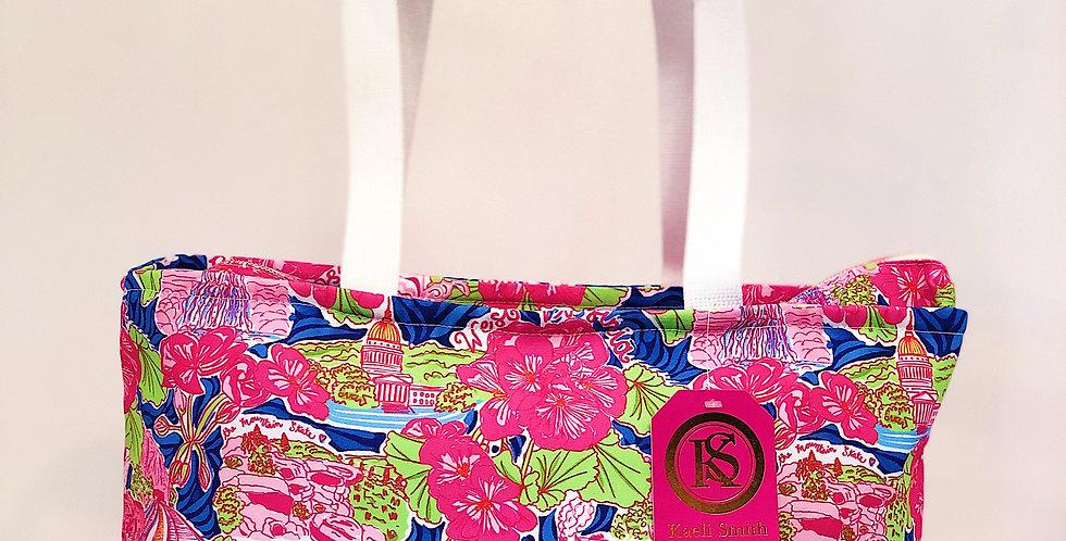 Small Tote - Pink Custom WV Print