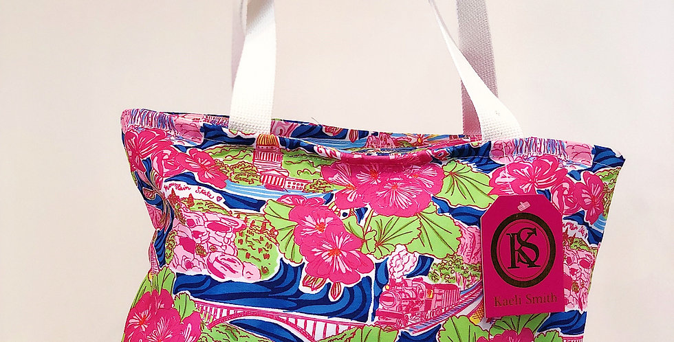 Large Tote - Pink WV Custom Print