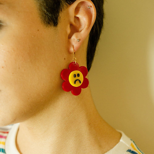Happy and Sad Earrings