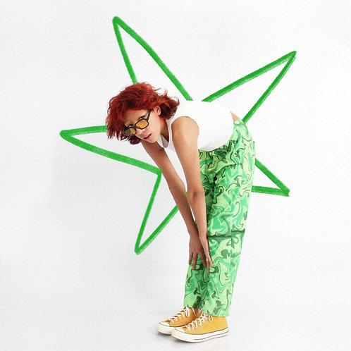 Pantalón Swirl Verde