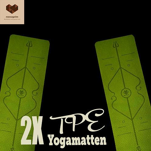 2X TPE Yogamatten / Gymnastikmatten