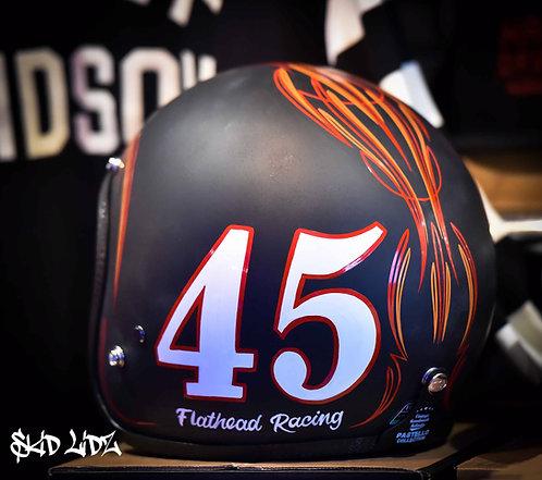 Skid Lidz Pinstripe Collection - 45 Flat Head Racing - Orange
