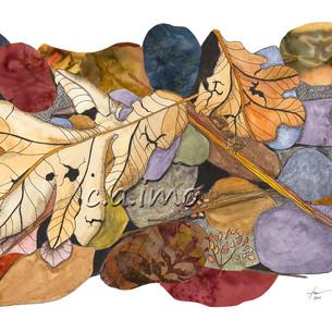 Leaves on Rocks 4