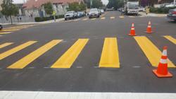 Yellow Continental Crosswalk