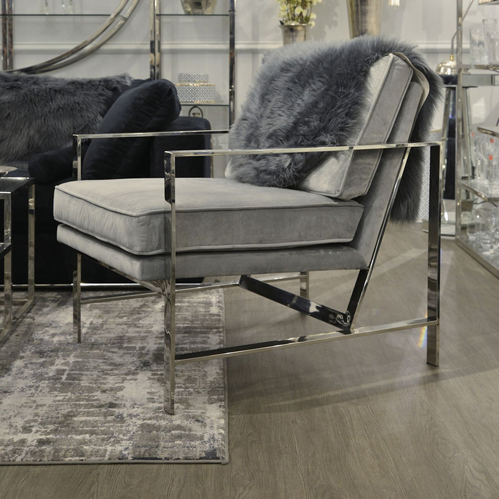 Caprice Grey Viscose Rug 160x230cm detai