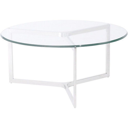 Linton Stainless Steel And Glass Coffee Table
