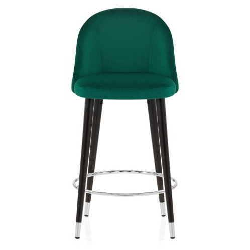 Green Velvet Bar Stool