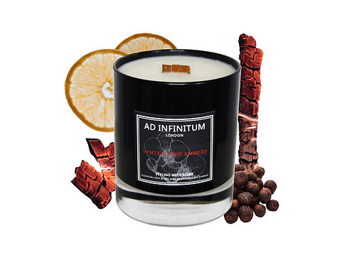 WINTER FIRE EMBERS Pure Essential Oils & Soy Wax Crackling Wick Candle