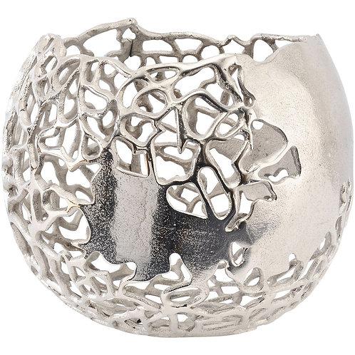Apo Coral Spherical Aluminium Vase