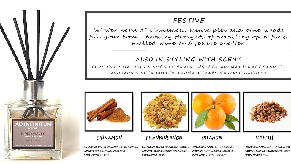 WINTER SPICE Pure Essential Oils Reed Diffuser