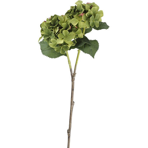 Faux Green Hydrangea With Leaves 71cm Set of 6