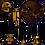 Thumbnail: Mercer Glass Bubble Black And Brass Chandelier E14 25W