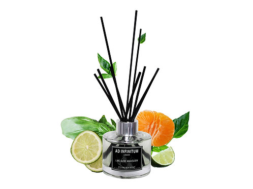 LIME BASIL & MANDARIN Pure Essential Oils Aromatherapy Reed Diffuser