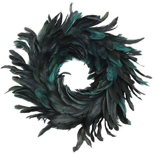 Blue Feather Wreath Large