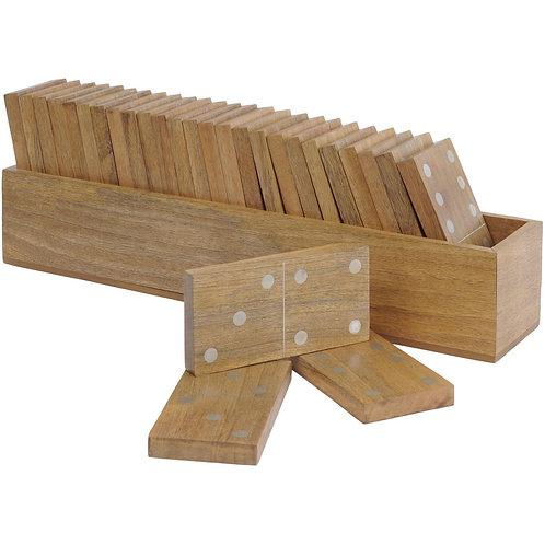 Manning Mango Wood Dominoes Set Large