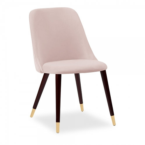 Velvet Upholstered Dining Chair Dusky Pink