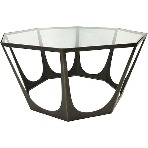 Catalan Octagon Coffee Table  Clear Float Glass