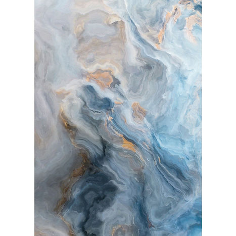 blue and gold marble effect glass wall a