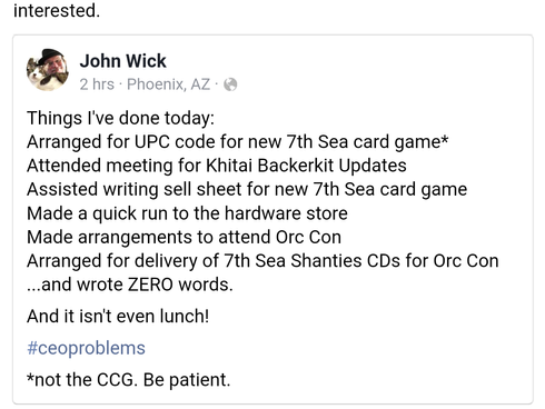 7th Sea CCG Reboot!?