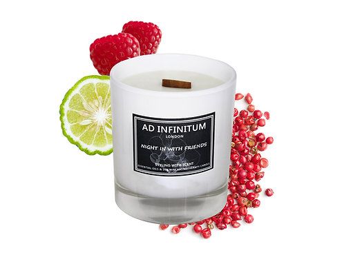 NIGHT IN WITH FRIENDS Essential Oils Soy Wax Crackling Wick Aromatherapy Candle
