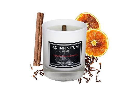 CHRISTMAS MORNING Pure Essential Oils & Soy Wax Crackling Wick Candle