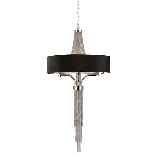 Langan Chandelier Small With Black Shade E14 60W
