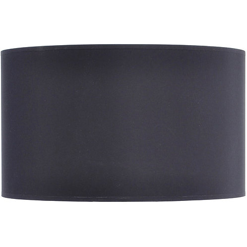 Black and Silver Lined Drum 20″ Lampshade