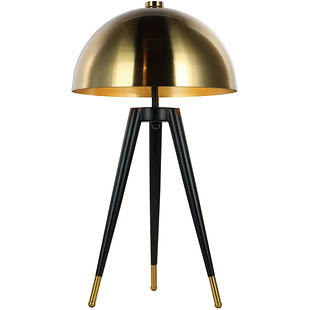 corvus tripod lamp with brass shade E27