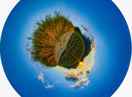 How to create a 360 degree globe image