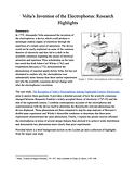 Research Highlights Volta's Electrophoru