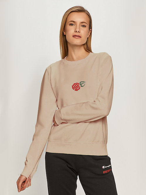 Свитшот с ручной вышивкой Роза