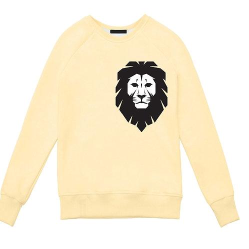 Бежевый свитшот с изображением Льва