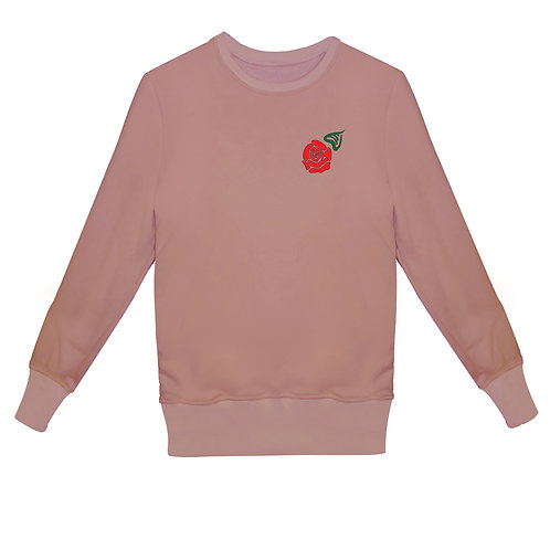 Свитшот с вышивкой Роза